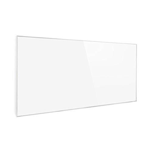 Klarstein Wonderwall Air - Calefactor bajo consumo panel, Panel radiante de cristal de carbono, Calefacción eléctrica bajo consumo sin ruidos, Detección ventana abierta, 120 x 60 cm, 720 W, Floral