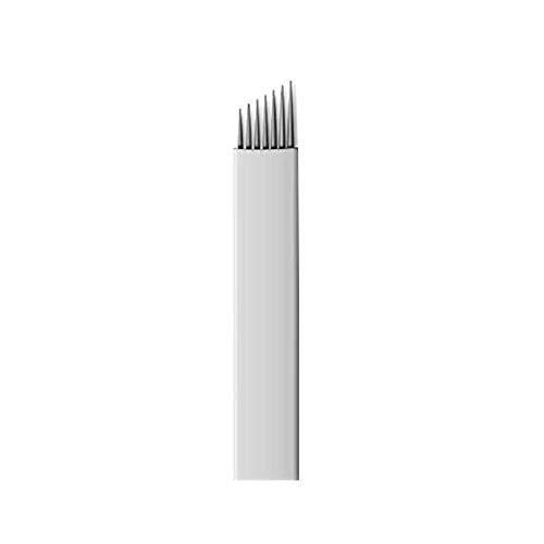 Pinkiou 7 aiguilles de tatouage sourcils microblading lame pour stylos microblading (paquet de 50)