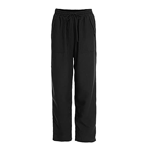 N\P Pantalones de otoño para mujer cintura elástica