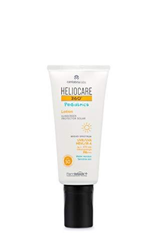 Heliocare 360º Pediatrics Lotion SPF 50 - Crema Solar para Cara y Cuerpo de Niños, Hidratante, Rápida Absorción, Hipoalergénica, Pieles Sensibles, 200ml