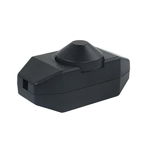 VIPMOON Interruptor y Dimmer Regulador de Intensidad/Atenuación de Luz LED, 220-240V, con Perilla, Regulable entre 3-100 Vatios con Ajuste Continuo, para Luces LED y Bombillas Regulables, CE, Negro
