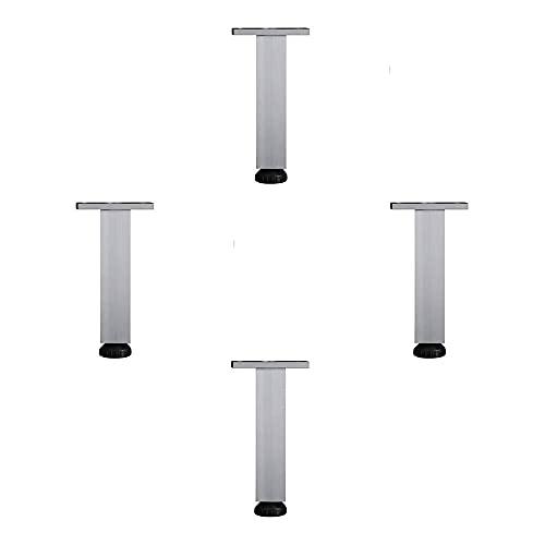 Muebles Piernas Conjunto de 4, Muebles Modernos Muebles Ajustable Muebles Mesa Mesa de Metal Mueble Soporte Piernas Sofá Piernas de Reemplazo Piernas Cuadradas Altura de aleación de aluminio (60-400 m