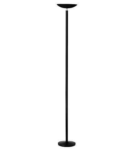Unilux Halogen Deckenfluter First, schwarz, dimmbar, 5060lm, 2900K, warmweisses Licht, IP20, 22W