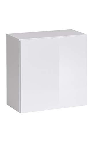 muebles bonitos Lettiemobili – Mobile pensile Verticale Berit 60x60 Bianco (Modulo Individuale)