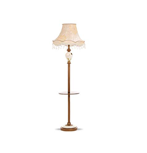 Hai Ying staande lamp, Amerikaans woonkamer, continental, met salontafel, slaapkamer, studie, landelijke eenvoudige hoofdlamp, staande lamp, voetschakelaar, E27