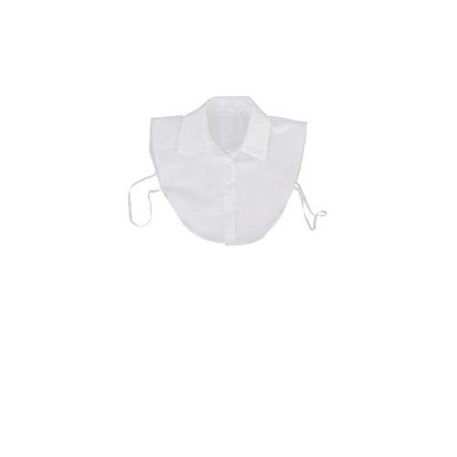 Hiinice Blusa de Cuello Desmontable Dickey Cuello de la Blusa La Mitad de Las Camisas del Collar Artificial para niñas y Mujeres Blancas