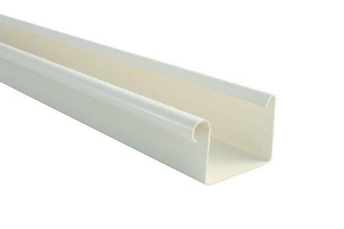 Dachrinne KASTENFORM Rinnensatz Regenrinne 2x600cm Komplett-Set mit wählbarer Farbe (Weiß)