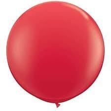 Riesenluftballon 120cm Durchmesser mit Spezialverschluss rot
