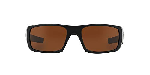 Oakley Men's OO9239 Crankshaft Rectangular Sunglasses, Matte Black/Dark Bronze, 60 mm