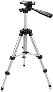 Ketsaal Tripod-3110 Portable Adjustable Aluminum Lightweight Camera Stand with Three-Dimensional Head Tripod(Silver, Black, Supports Up to 3000 g)
