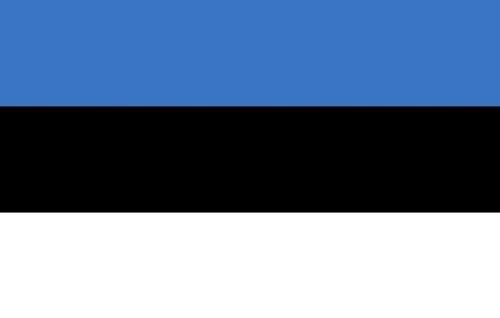 Michael & Rene Pflüger Barmstedt - 8,4x5,4 cm - Premium Autoaufkleber Fahne/Flagge von Estland Sticker Aufkleber Auto Motorrad Bike