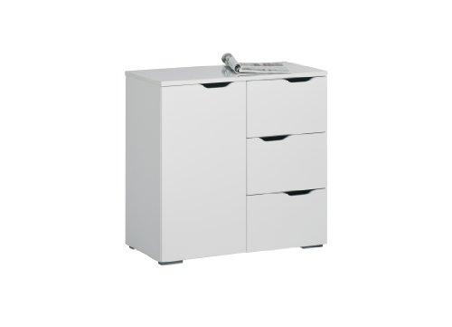 MAJA-Möbel 7270 5639 Kommode, weiß Hochglanz - Icy-weiß, Abmessungen BxHxT: 80,1 x 77,7 x 40 cm