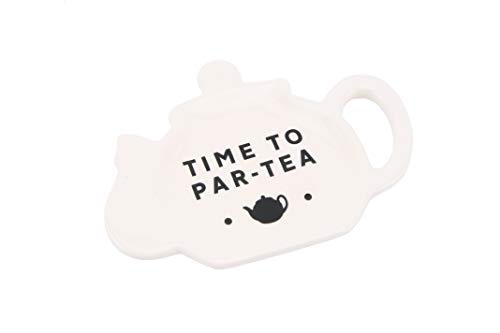 Loft 'Time to Par-Tea' Ceramica Tea Pot a forma di Tea Bag Holder | CGB Giftware | GB02866