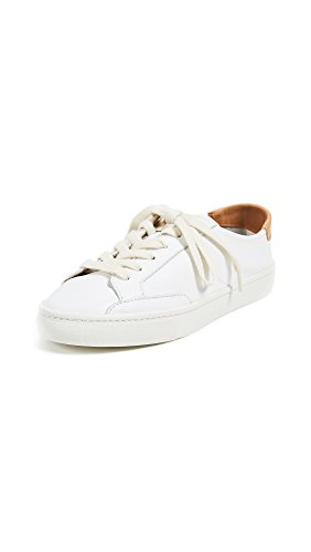 Soludos Women's Ibiza Classic Lace-up Leather Sneakers White