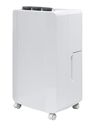 [山善] 衣類乾燥除湿機 除湿量10L (木造13畳 / 鉄筋25畳まで) コンプレッサー方式 湿度コントロール運転 タイマー機能 キャスター付 ホワイト YDC-C100(W)