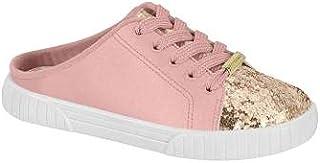 Tenis mule infantil meninas Molekinha rosa com glitter