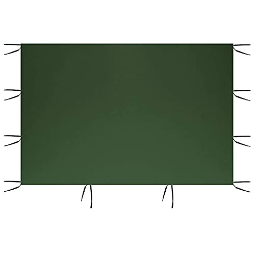 Panel lateral toldo 3m*2 m Impermeable 210D Tela Oxford Sombra jardín Superficie tienda campaña Panel pared lateral repuesto carpa Panel lateral la glorieta la carpa (Marco del toldo no incluido)