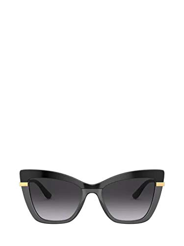 Dolce e Gabbana Moda De Lujo Mujer DG437432468G Negro Metal Gafas De Sol   Temporada Permanente
