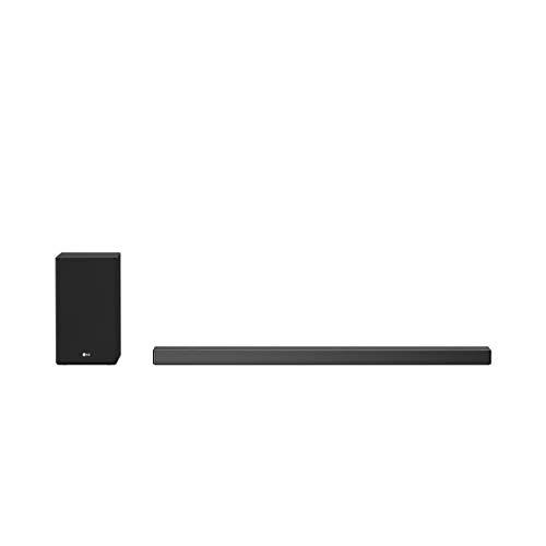 LG SN9YG Hi-Res Soundbar mit Dolby Atmos, 24 Bit/192 kHz, 520 W Leistung, Google-Assistent, integrierter Chromecast, kabelloser Subwoofer, WiFi, Bluetooth mit Meridian-Technologie