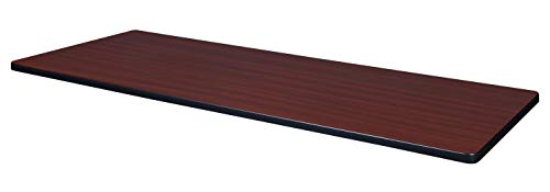 Regency Rectangular Standard Table Top, 72 x 24, Mahogany/Mocha Walnut