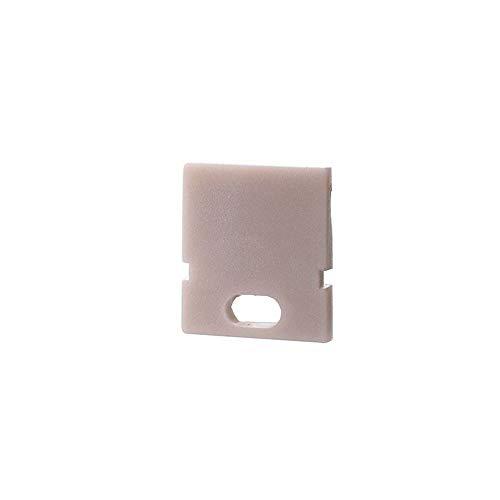 reprofil Accessoires pour profil LED H – Au – 01–05 Embout, Lot de 2, blanc 979160
