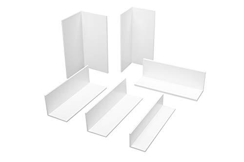 2 Meter | Winkelprofil | gleichschenklig | PVC | weiß |Hexim | HJ 352