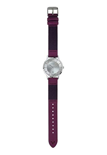 Orologio BREIL Donna TWENTY20 quadrante mono-colore Bianco movimento Solo Tempo - 3h Quarzo e Cinturino Pelle di Vitello Bordeaux TW1745