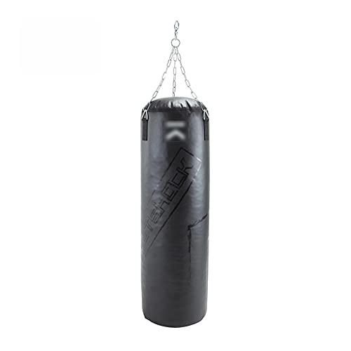 HCKLYTN Boxeo Punch Bag Home Gym Professional Solid Colgando Sandbag Boxing Bolsa de perforación Sanda para Adultos Niños Taekwondo ll (Color : Black, Size : 25)