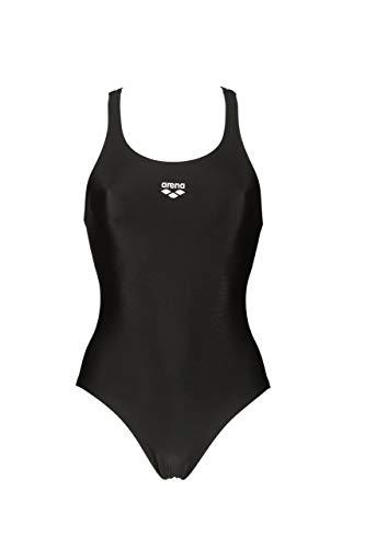 ARENA Damen Women's LTS Y WaterFeel One Piece Swimsuit Einteiliger Badeanzug, schwarz, 140