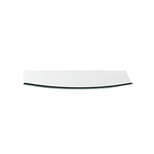 Vonkenscherm G30 segmentboog ESG 6 mm x 500 mm x 1000 mm met 18 mm facet glasplaat bodemplaat schoorsteenplaat vonkenbescherming ovenplaat open haard glas