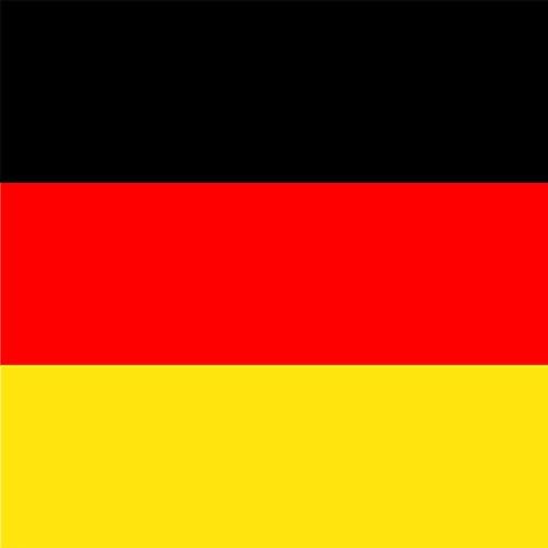 Tafeldecoratie 20 stuks servet vlag Duitsland vlag