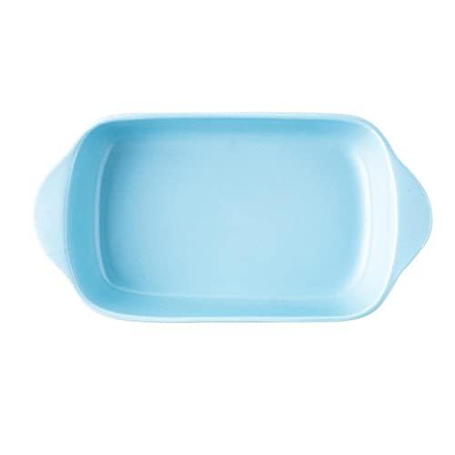1 Piece Bake Ware Rectangle Binaural Baking Pan Baking Sheet High Capacity Blue