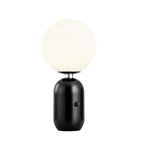 H-M-SJZ Tafellamp voor in de slaapkamer, nachtkastje, moderne Noordse ontwerper, woonkamerlamp, glazen bollamp, kantoor, leren
