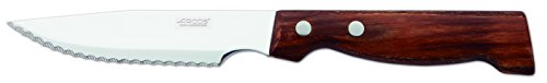 Arcos Table Knives - Steak Knife Table Knife - Blade Nitrum Stainless Steel 5' - Handle Pack-Wood Brown Color
