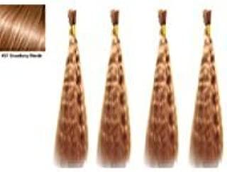 Hot selling Wet N Wavy Bulk hair, Top Quality Synthetic Fibers, Bulk Hair for Micro Braiding or Crochet Braiding, Super Bulk Style 2 Packs (4 Bundles) Deal, Length 18 Inch Color Strawberry Blonde #27