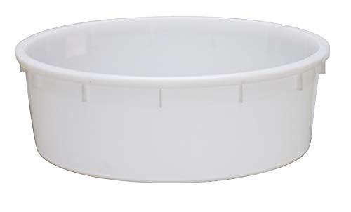 Mastello per enologia in plastica (HDPE), Mis. Ø 110 x 35 cm, capacità 275 Lt, colore neutro (275 Lt - Neutro)