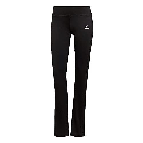 adidas Damen Designed to Move Bootcut Hose, Black/White, S