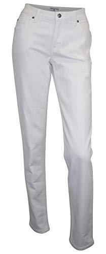 RICK CARDONA Jeans Weiß Gr. 36 Tapered Leg weiße Ziernähte Stretch Denim 32L neu