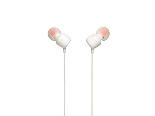JBL TUNE 110 - In-Ear Headphone with One-Button Remote - White