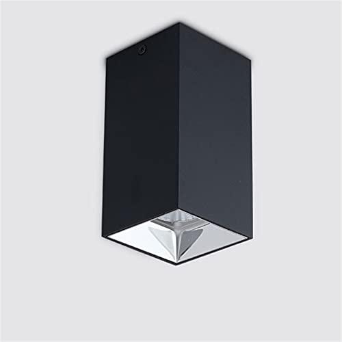 JXEXF Montado Cuadrado Montado Downlight Downlight LED de Alta Gama Luz de Techo Lámpara de Estar Lámpara de Techo 18W, COB, Spotlight Punching, Manchas de Techo, Downlight montado en Superficie,