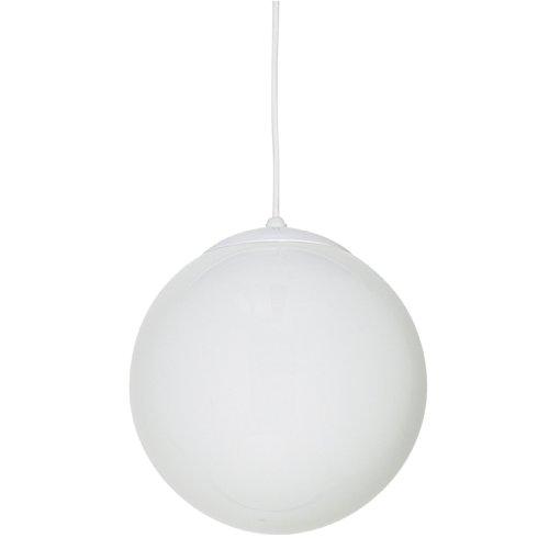 Sunset Lighting F3403-30 Pendant with Opal Globe Glass, White Finish
