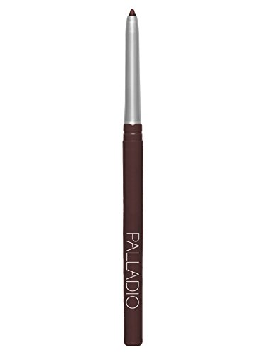 Palladio Retractable Waterproof Eyeliner, Eggplant, Richly Pigmented and Creamy, Slim Twist Up Pencil Eyeliner, No Smudge Formula with Long Lasting Application, No Eyeliner Sharpener Required