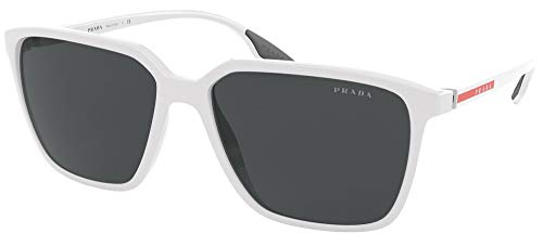 Prada PS 06VS - Gafas de sol deportivas White Semishiny 58