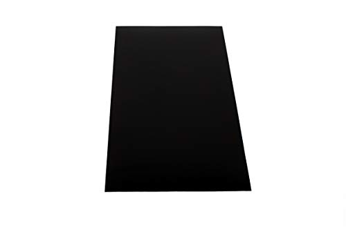 Placa de plástico ABS de 1000 x 490 mm, color negro, grosor de 4 mm, lámina protectora de una cara