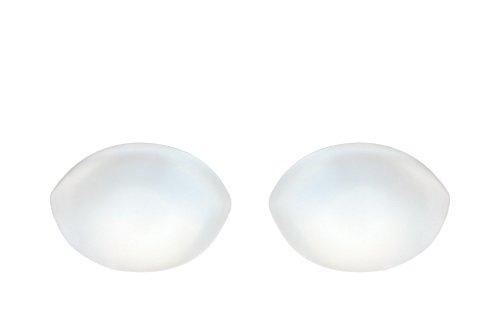 Sodacoda Ovale Silikon Einlagen Chicken Fillets Brust Enhancers für BHS, Badeanzüge, Bikini, Bandeau Bikinis - für Körbchengröße A, B, C and D (Transparent, 150g/Paar)