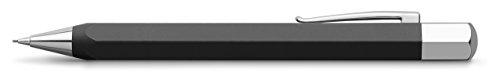 Faber-Castell Ondoro - Portaminas con cuerpo en resina mate, con forma hexagonal, mina de 0.7 mm, color negro grafito