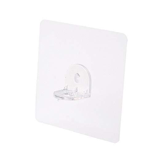 UERA Ganchos de Pared de Acero Inoxidable Adhesivos para Uso General para Toallas Batas de baño baño Cocina sin uñas Transparente Resistente Gancho de Pared y suspensión de Techo Classy