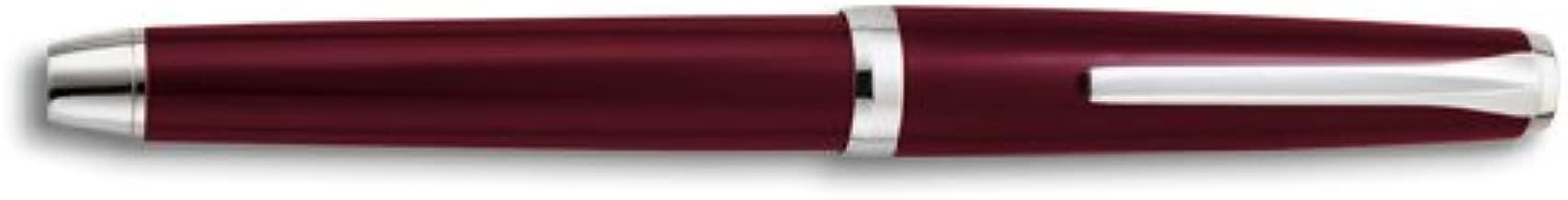 Pilot Metal Falcon Burgundy Soft Flexible Nib designed by Namiki Broad Point Fountain Pen - P60773