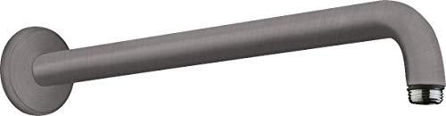 hansgrohe 27413340 - Brazo de ducha (38,9 cm), color negro y cromado