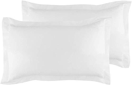 Beddingstar - Juego de 2 fundas de almohada, fundas de almohada 100% de algodón egipcio de 600 hilos